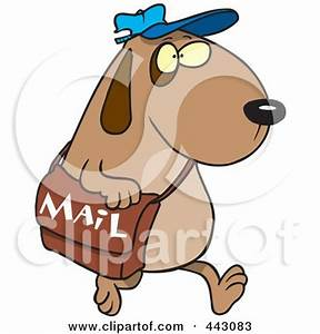 Royalty-Free (RF) Clip Art Illustration of a Cartoon Dog ...