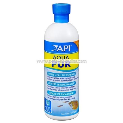 api aqua pur conditionneur d eau pour aquarium