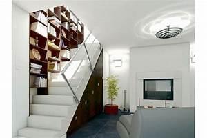 Bibliothèque Escalier Ikea : une biblioth que le long d 39 un escalier une biblioth que sur mesure pour mes livres c t ~ Teatrodelosmanantiales.com Idées de Décoration