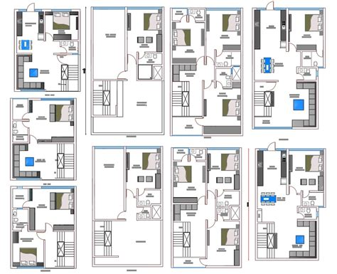 Row house community development corporation (row house cdc), formed in august 2003 as a sister organization to project row houses, is based in houston'. Different Type Of Row House Plan With Furniture Layout AutoCAD File - Cadbull