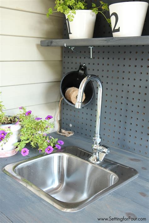 diy potting table with sink make it diy potting bench with sink setting for four