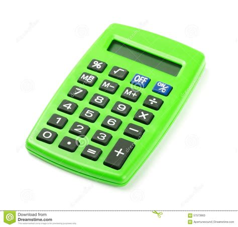 green calculator stock image image  green color electrical