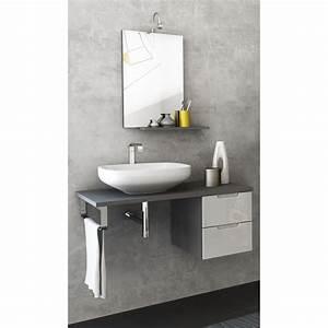 Bad Unterschrank Grau : badm bel set badezimmer unterschrank spiegel beleuchtung grau hochglanz wei ebay ~ Whattoseeinmadrid.com Haus und Dekorationen