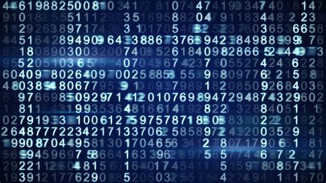 blue matrix style numbers computer generated seamless
