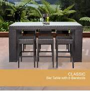 Patio Furniture Pub Table Sets by Bar Table Set Backless Barstools Patio Garden Furniture