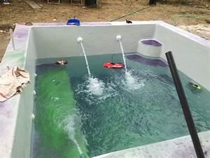 Piscine Plastique Dur : mise en eau de la piscine construction d 39 une petite piscine en b ton quip e spa ~ Preciouscoupons.com Idées de Décoration