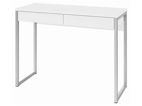 bureau laqué blanc ikea bureau 2 tiroirs bureaux