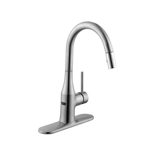 modern kitchen faucets stainless steel schon modern single handle pull sprayer kitchen