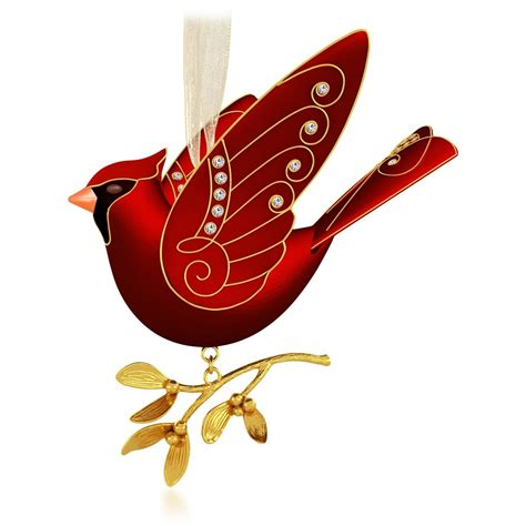 2015 ruby red cardinal hallmark keepsake ornament hooked