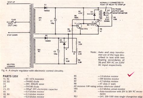 Simple Mains Voltage Stabilizer Circuit
