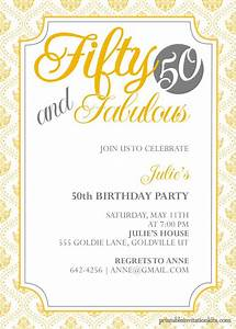 50th birthday invitation templates free printable a With template for 50th birthday invitations free printable
