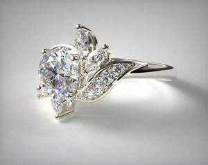 bird of paradise engagement ring 14k white gold 17678w14 With bird wedding ring