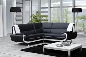 canape moderne simili cuir jenna reversible gris noir With tapis d entrée avec canape cuir gris et blanc