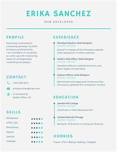 Simple Infographic Resume - Templates by Canva
