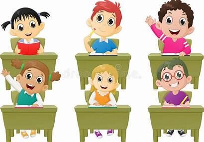 Classroom Clipart Children Activities Lesson Illustration Vector