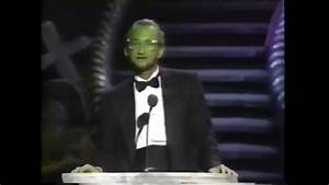 Chucky at the 1990 horror hall of fame awards - YouTube