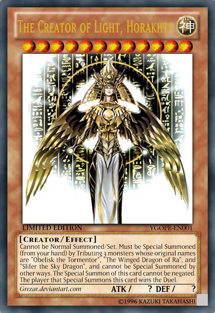 the creator god of light horakhty deck edited the creator of light horakhty by grezar on deviantart