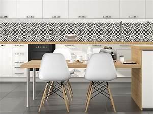 Crédence Carreaux De Ciment Adhesif : cr dence cuisine en 47 photos id es conseils inspirations ~ Premium-room.com Idées de Décoration