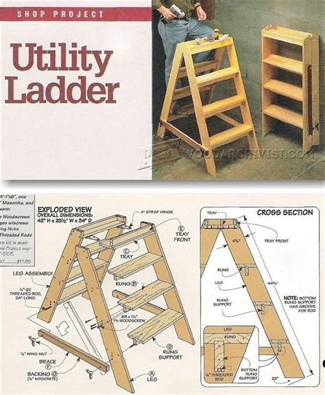 wooden step ladder plans workshop solutions projects