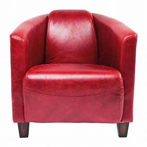 Fauteuil Cuir Rouge : fauteuil vintage en cuir rouge cigar lounge kare design ~ Teatrodelosmanantiales.com Idées de Décoration
