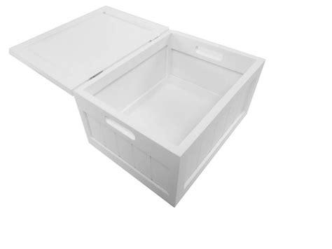 shabby chic white brown pine wooden laundry basket box
