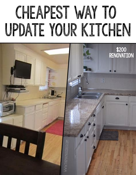 cheap ways to redo kitchen cabinets cheapest way to update a kitchen 9412