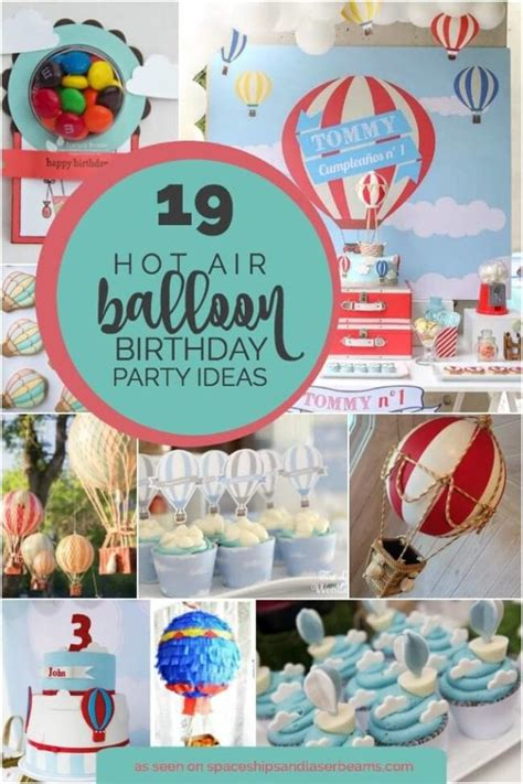 19 Hot Air Balloon Party Ideas And Decorations