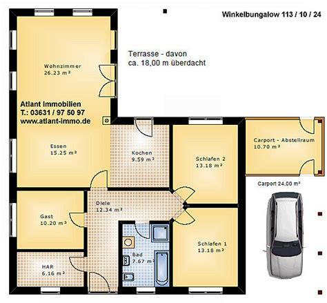 Haus 100 Qm Grundriss by Grundriss Winkelbungalow 100 Qm