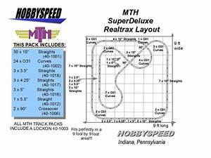 Mth Realtrax Super Deluxe Track Layout Track Pack 9 U0026 39  X 9