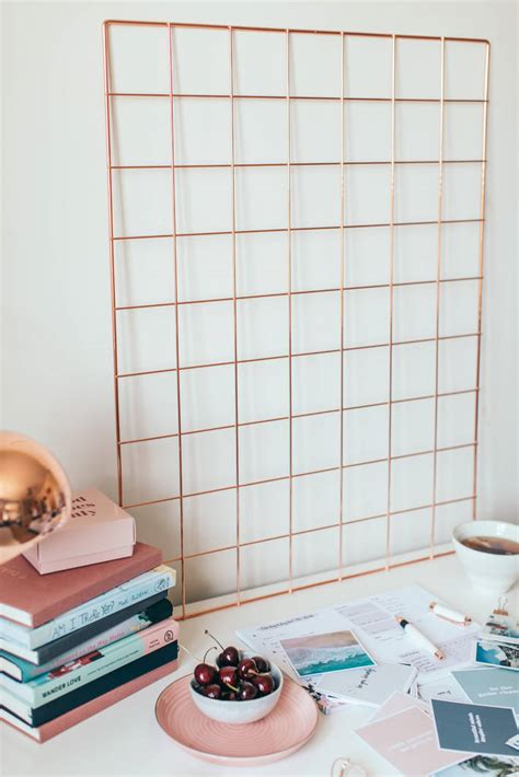 See inspiring wall arrangement ideas and get tips for hanging a personal gallery with the room & board frame wall guide. Rose Gold Wall Grid/ Inspiration Board/ Wall Decor By The ...