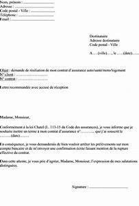 Resiliation Assurance Voiture : modele resiliation assurance loi chatel document online ~ Gottalentnigeria.com Avis de Voitures