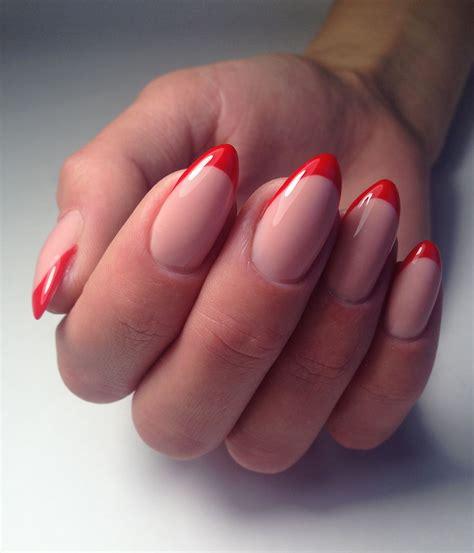 Красный френч на ногтях 20202021 82 фотоновинки . Модный маникюр дизайн ногтей 2019 2020 . ModaNail