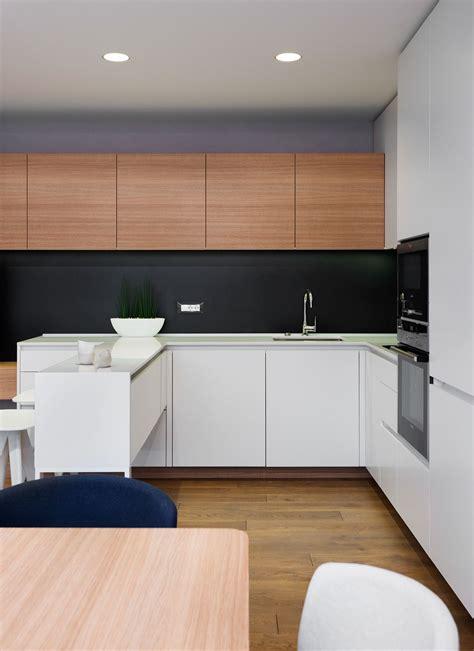 minimalist kitchen interior design minimalist apartment design with simple wooden interior 7518