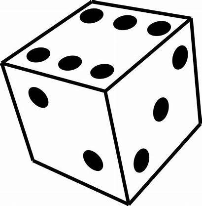 Dice Shapes 3d Clipart Coloring Drawing Clip