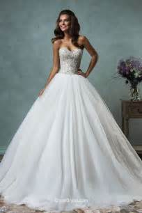 princess brautkleider strapless sweetheart sparkly beaded tulle gown wedding dress groupdress