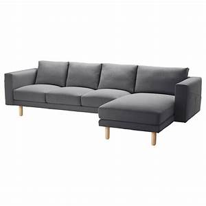 Norsborg 4 seat sofa with chaise longue finnsta dark grey for Couch gb sofa