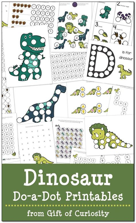 dinosaurs   dot printables  coloring books