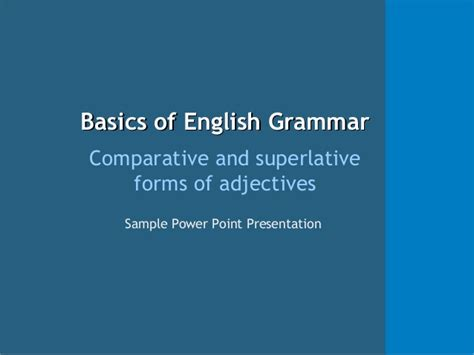 Ppt Example Adjectives