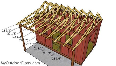 shed  porch roof plans myoutdoorplans