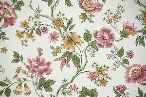 Papier Peint Fleuri Vintage : 1960s vintage wallpaper by the yard pink yellow and green ~ Melissatoandfro.com Idées de Décoration