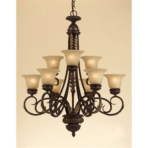 Brown Chandeliers by Af Lighting Table Brown Nine Light Chandelier