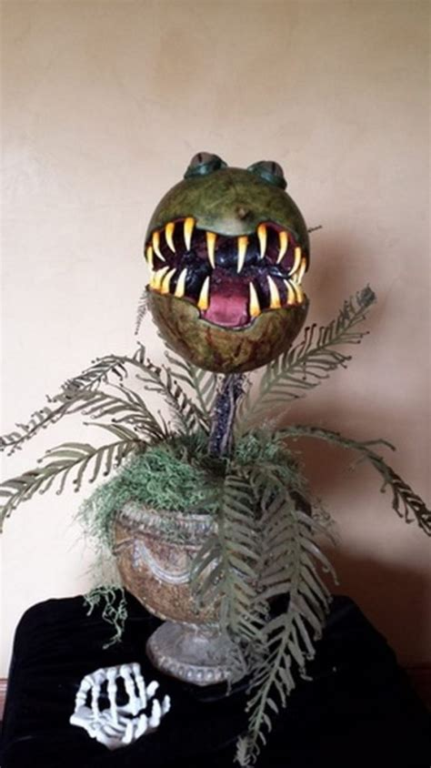 diy man eating monster plant  halloween
