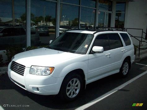 subaru forester white 2006 aspen white subaru forester 2 5 x premium 4048179