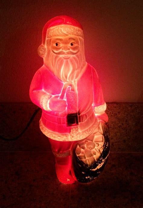 vintage santa  toys illuminated blow mold