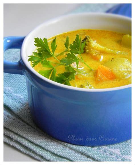 plume cuisine soupe au curry une plume dans la cuisine
