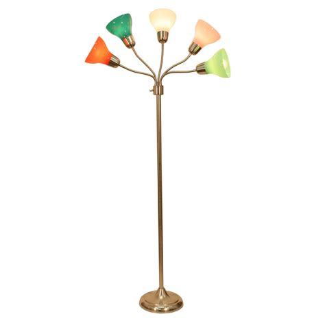 5 light multi colored floor l decor therapy pl3710 5 light floor l with multi colored