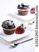 elegant cupcakes exposed   confectionery stock photo