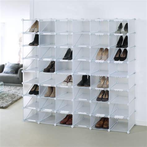 schuhe platzsparend aufbewahren schuh organizer cubes schuhregal 12 f 228 cher erweiterbar