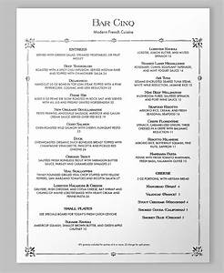 free printable restaurant menu template With french cafe menu template