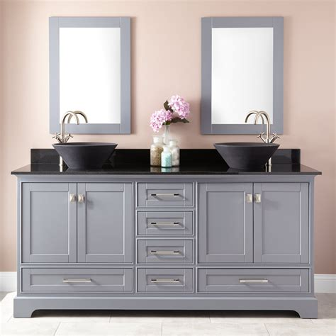 what is a bathroom vanity 72 quot quen vessel sink vanity gray sink